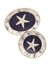 Certified International 2-pc. Coastal Moonlight Platter Set