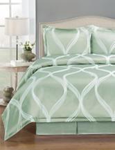 Home Fashions International 4-pc. Green Wave Comforter Set