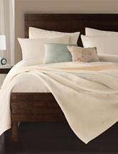 Lamont Home Delaney Solid Color Ivory Coverlet