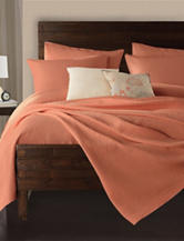 Lamont Home Delaney Solid Color Apricot Coverlet