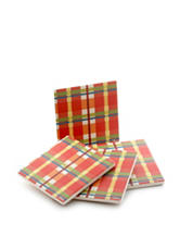Fiesta® by Thirstystone 4-pc. Plaid Coaster Set