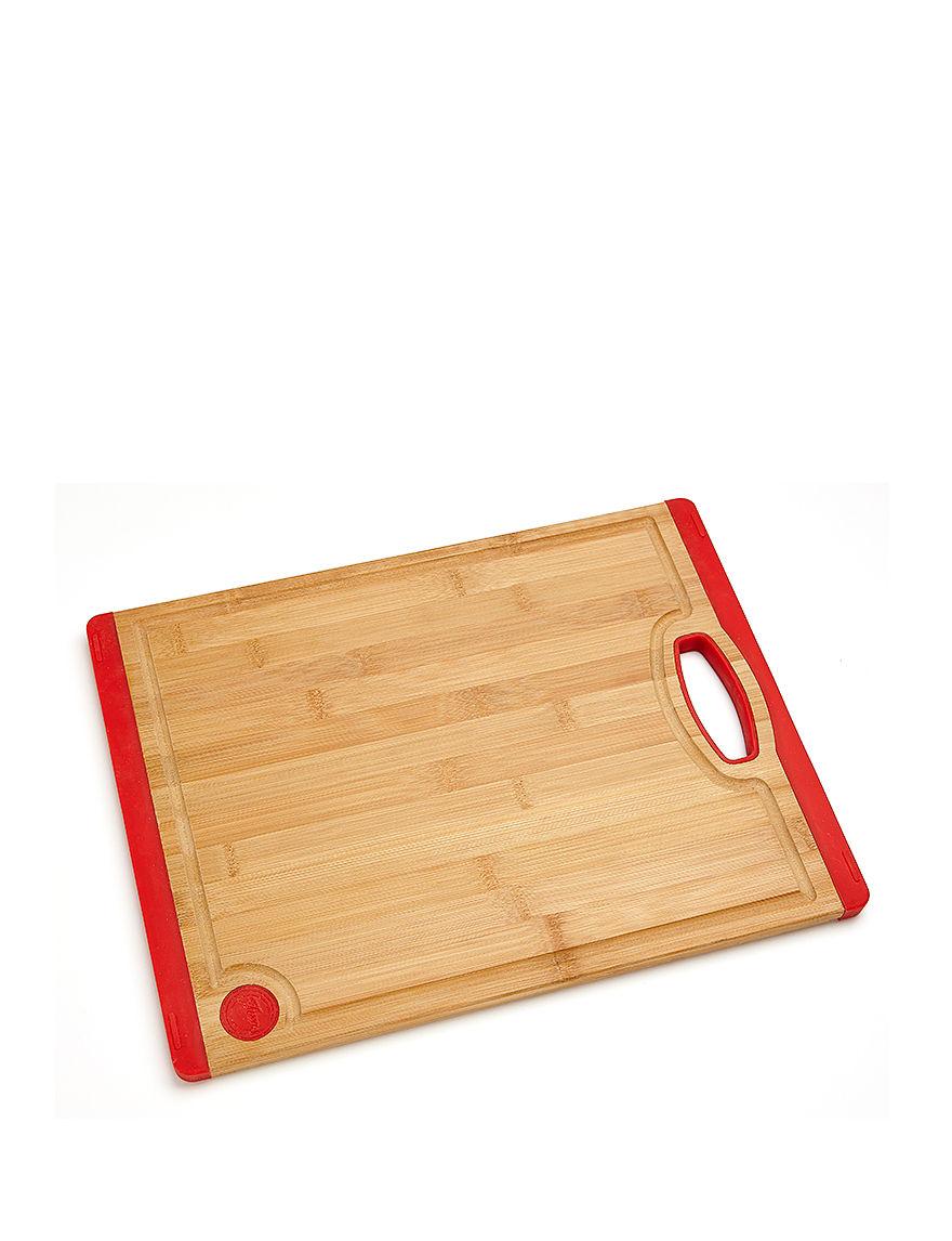 Fiesta Red Cutting Boards Prep & Tools