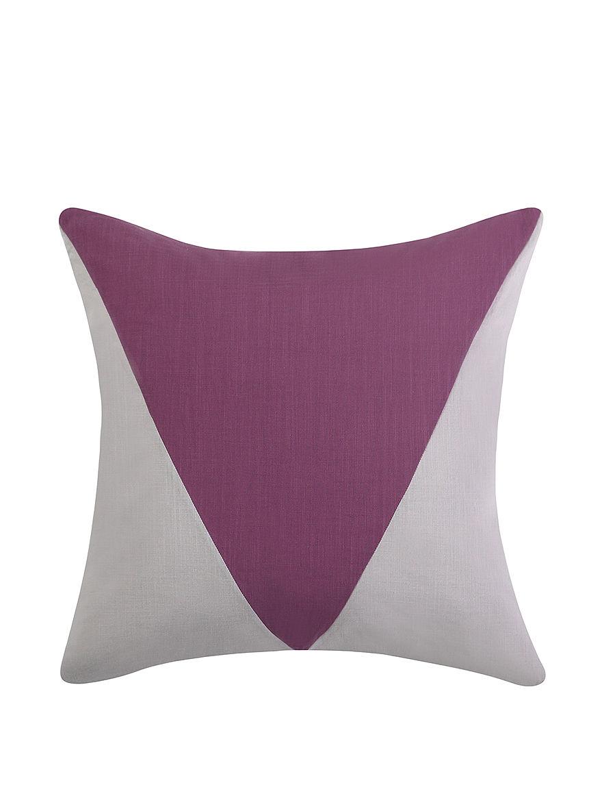 Vince Camuto Grey/Purple Decorative Pillows