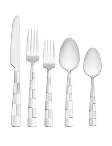 International Silver 20-pc. Checkered Frost Flatware Set