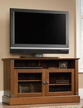 Sauder Carson Forge Washington Cherry Panel TV Stand