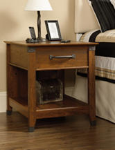 Sauder Carson Forge Washington Cherry Smart Center Side Table