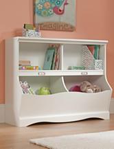 Sauder Pogo Soft White Bookcase & Footboard