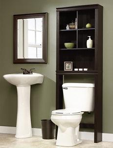 Sauder Brown Storage Shelves Bathroom Furniture