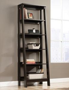 Sauder Trestle Jamocha Wood 5-Shelf Bookcase