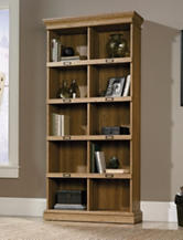 Sauder Barrister Lane Scribed Oak Tall Bookcase