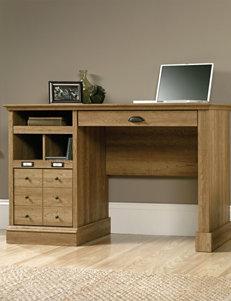 Sauder Barrister Lane Scribed Oak Desk