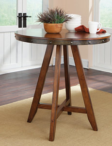 Sauder Carson Forge Medium Wood Round Counter-Height Table