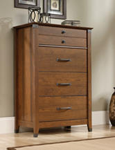 Sauder Carson Forge Washington Cherry Chest of Drawers
