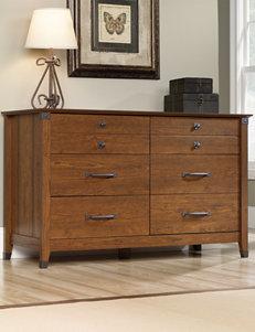 Sauder Brown Dressers & Chests Bedroom Furniture