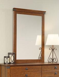 Sauder Brown Mirrors Bedroom Furniture