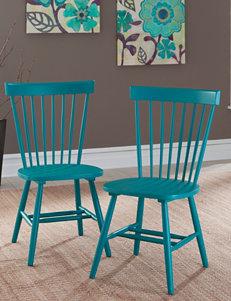 Sauder 2-Pair Cottage Road Blue Spindle Back Chair Set