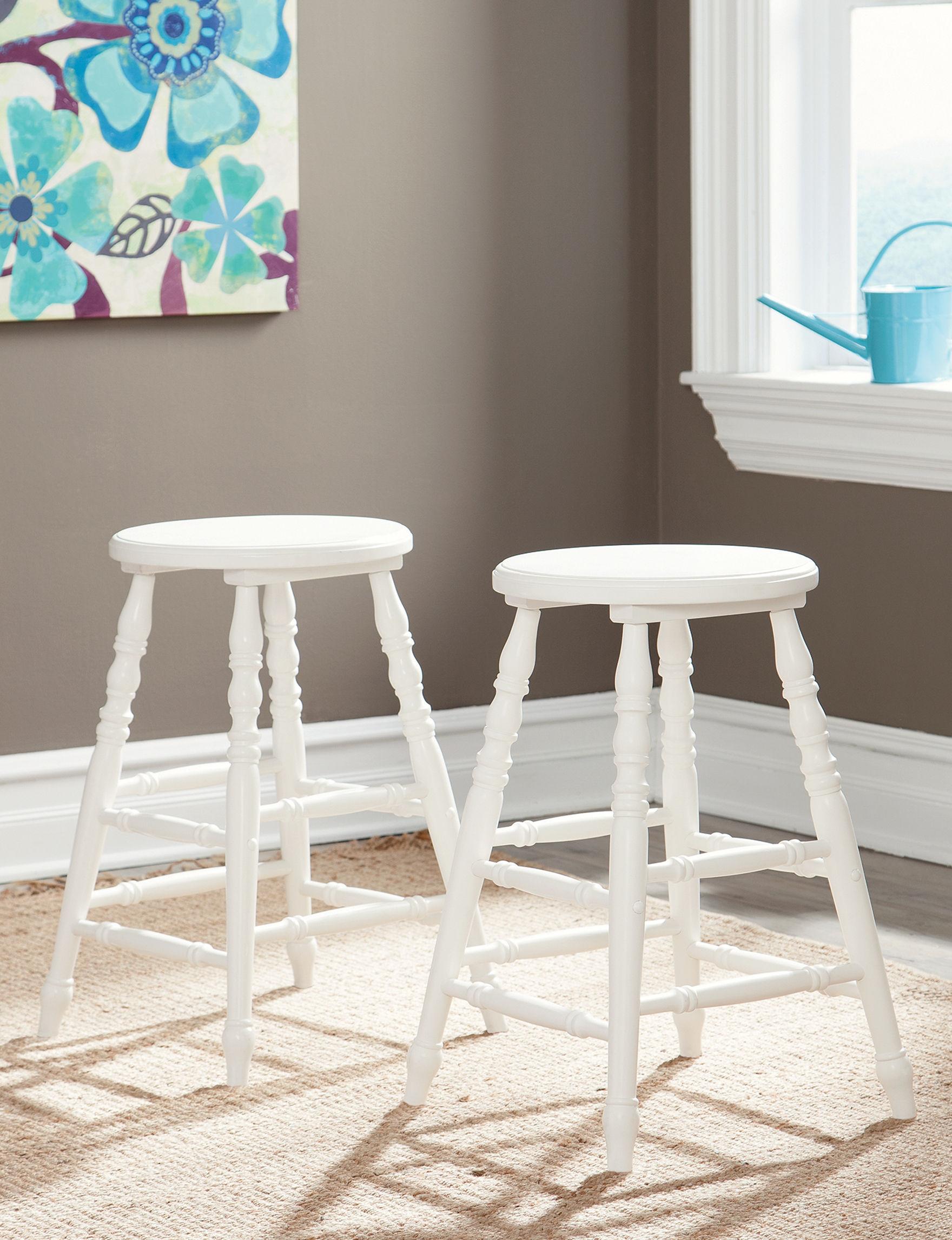 Sauder White Bar & Kitchen Stools Kitchen & Dining Furniture