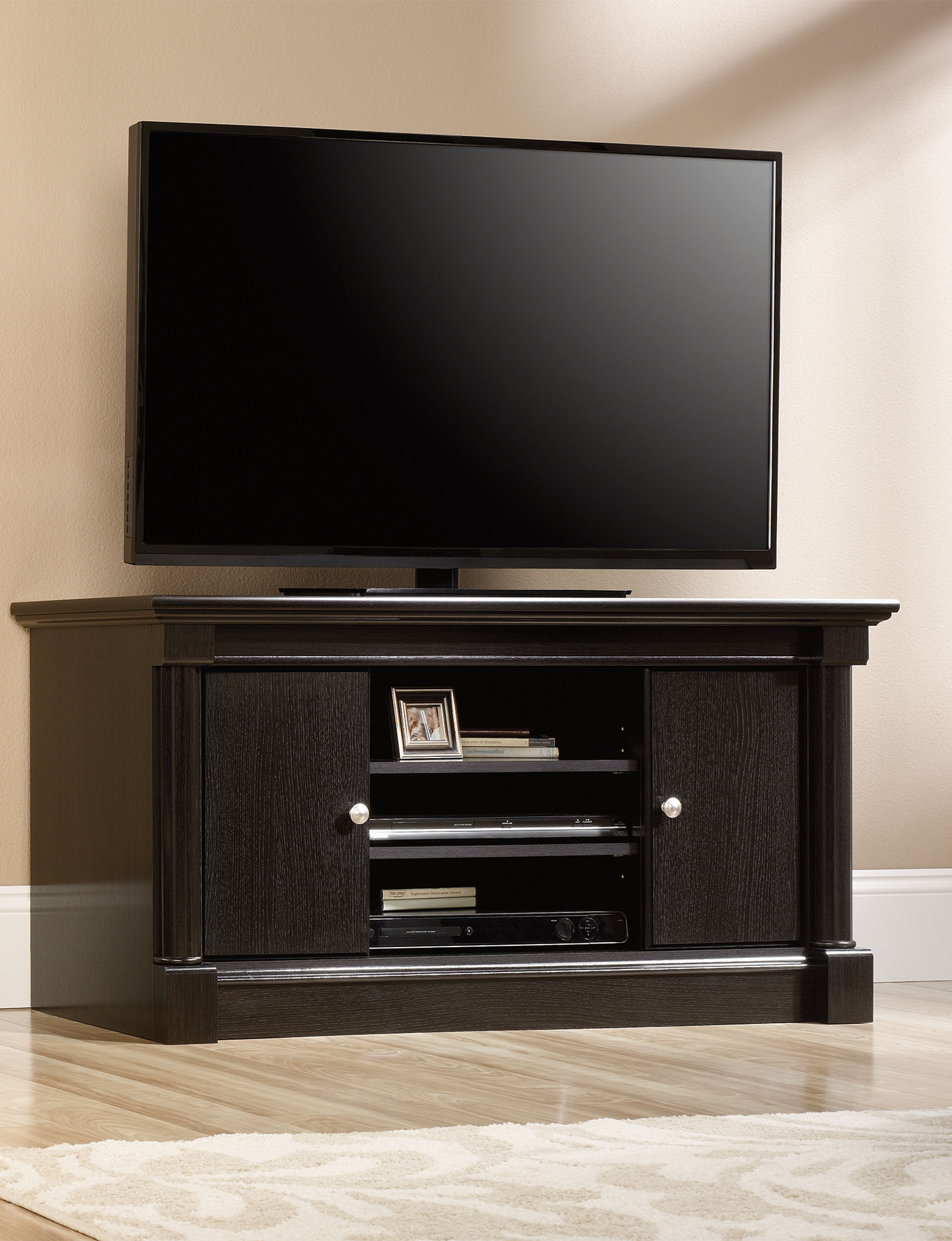 Sauder Espresso TV Stands & Entertainment Centers Living Room Furniture