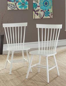 Sauder White Dining Chairs Kitchen & Dining Furniture