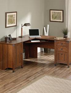 Sauder Carson Forge Washington Cherry Corner Computer Desk