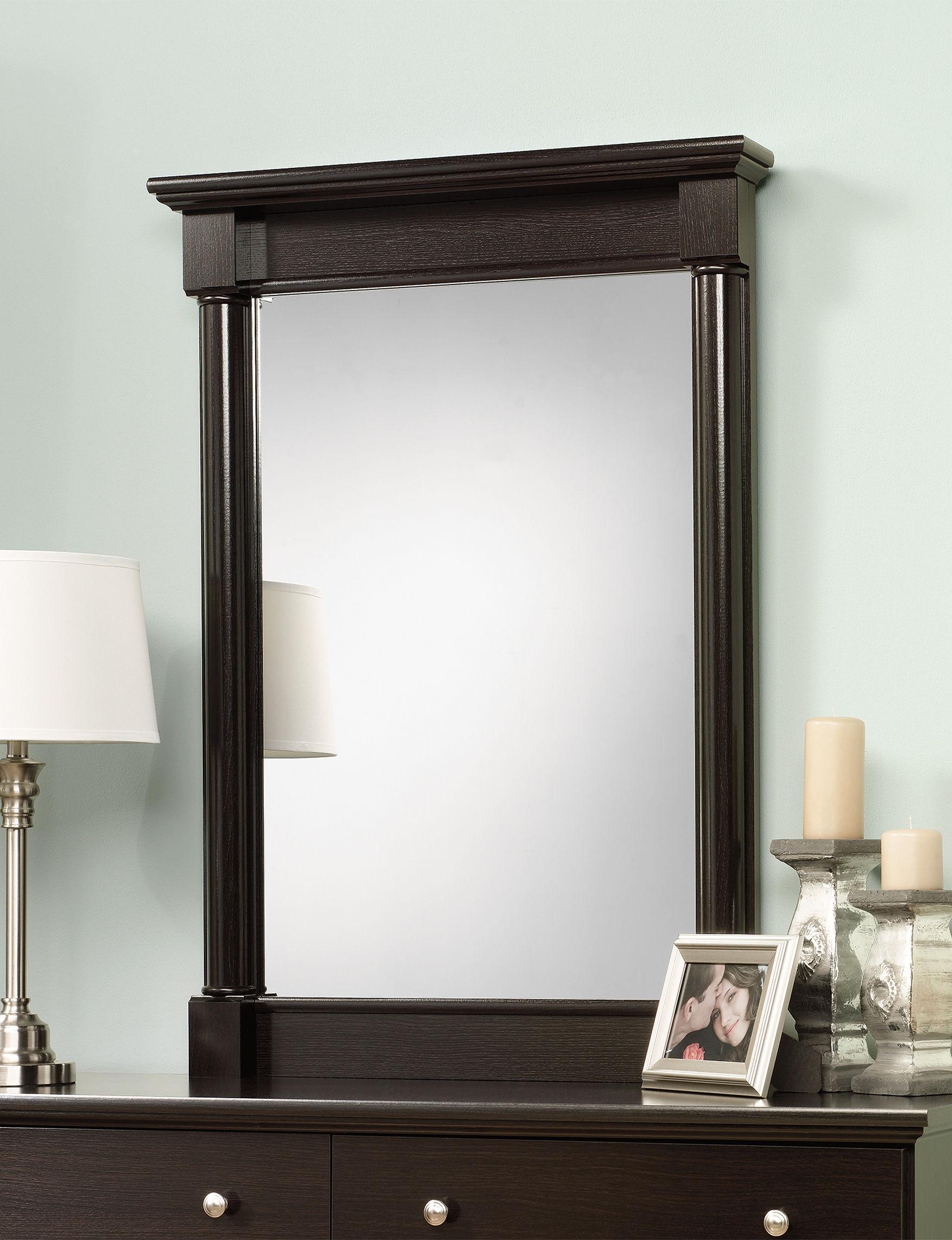 Sauder Espresso Mirrors Bedroom Furniture
