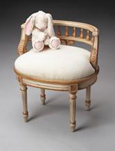 Butler Specialty Co. Cream & Gold Vanity Seat