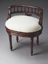 Butler Specialty Co. Crackled Crimson Vanity Seat