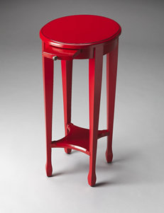 Butler Specialty Co. Red Pedestal Table
