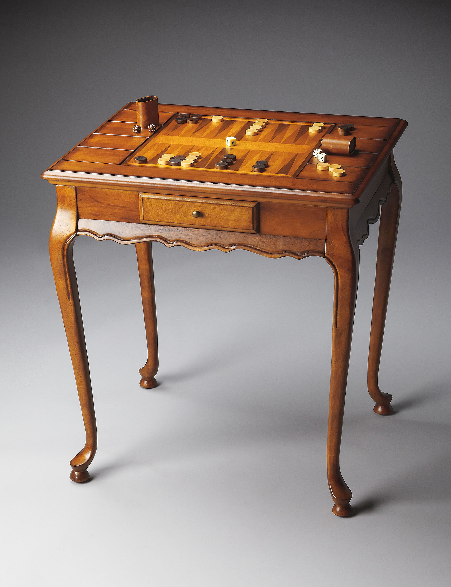 Butler Specialty Co. Olive Ash Burl Game Table - Light Brown - Butler Specialty Co.