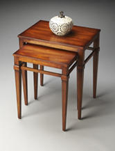 Butler Specialty Co. Antique Cherry Nesting Tables