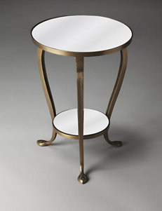 Butler Specialty Co. Metalworks Golden Mirrored Accent Table