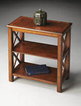 Butler Specialty Co. Olive Ash Burl Low Bookcase
