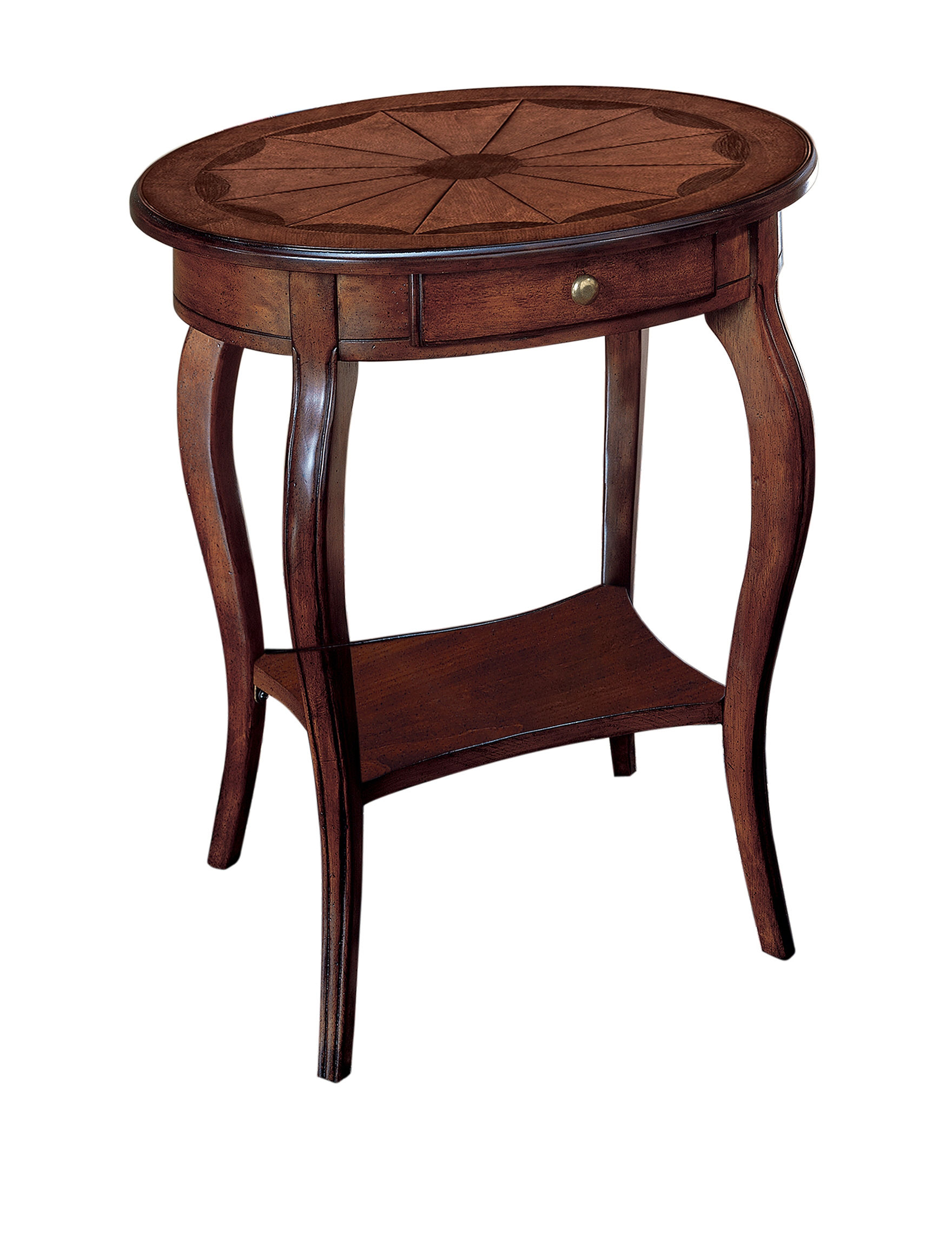 Butler specialty co plantation cherry oval accent table
