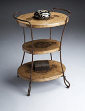 Butler Specialty Co. Metalworks Carved Stone Accent Table