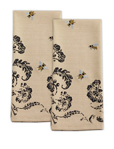 Design Imports Black Dish Towels Kitchen Linens