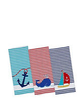 Design Imports 3-pc. Anchor Embellished Dishtowel Set