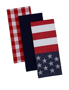 Design Imports Red Dish Towels Kitchen Linens