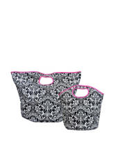 Design Imports 2-pc. Damask Print Tote Bag Set