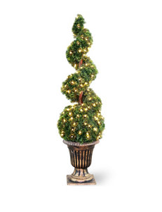 National Tree Company 54 Inch Pre-Lit Cedar Spiral Tree with Urn