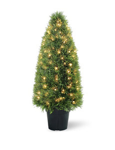 National Tree Company 36 Inch Pre-Lit Upright Juniper with Pot