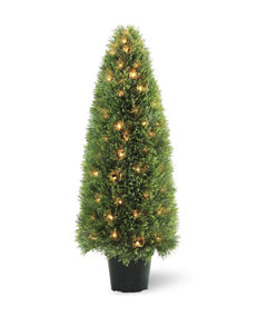 National Tree Company 48 Inch Pre-Lit Upright Juniper with Pot