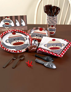 Red Sock Monkey Party Pack