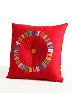 Fiesta Embroidered Circle Decorative Pillow