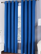 Fiesta® Solid Twill Collection Single Curtain Panel – Lapis Blue