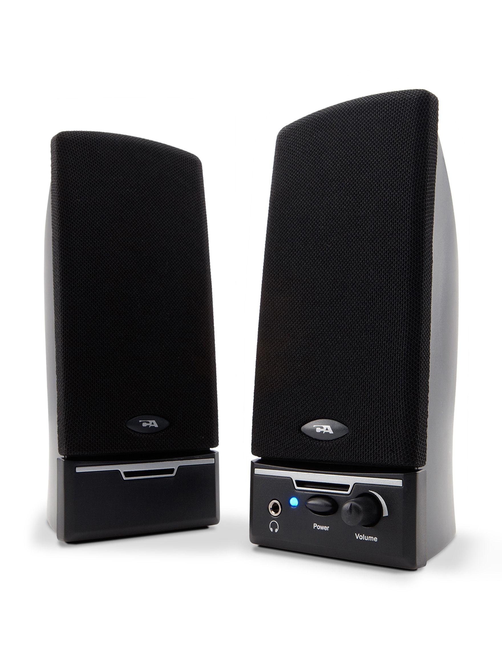 Cyber Acoustics Black Speakers & Docks Home & Portable Audio TV & Home Theater