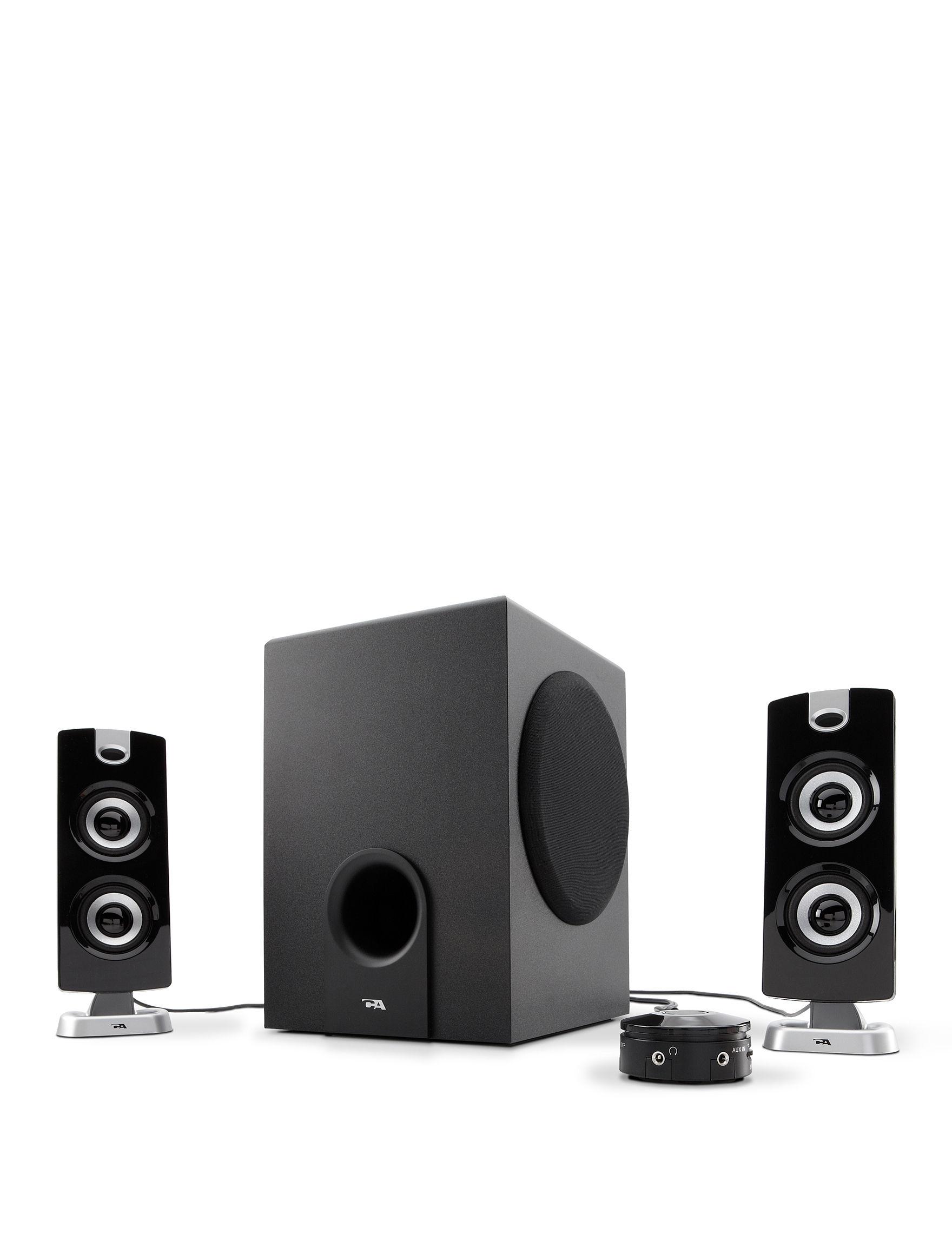 Cyber Acoustics Black Speakers & Docks Home & Portable Audio