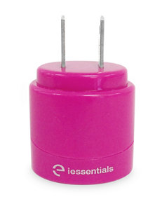 iEssentials Dual USB 2.1 Amp Pink Home Charger