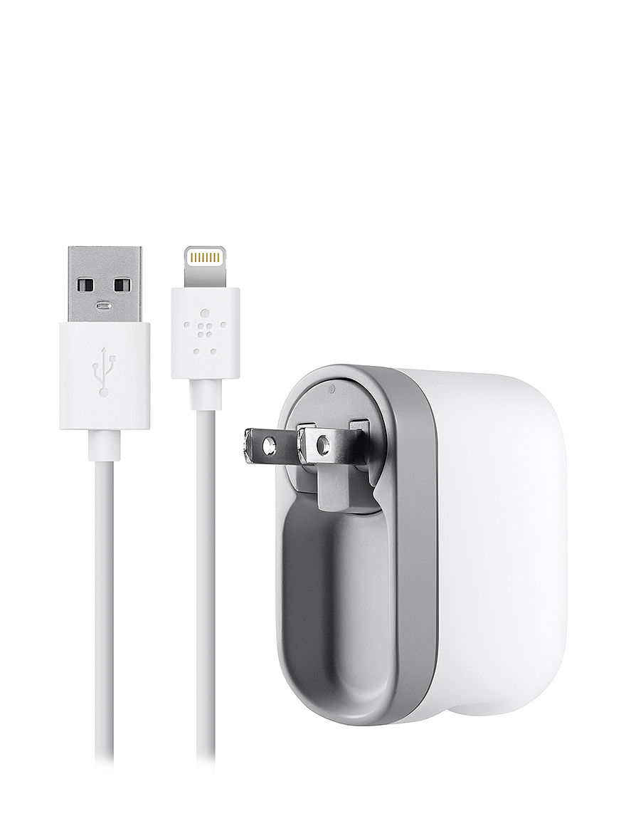Belkin White Cables & Outlets Tech Accessories