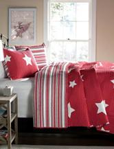 Lush Decor 3-pc. Red Star Quilt Set
