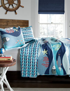 Lush Decor 2-pc. Blue Sea Life Quilt Set
